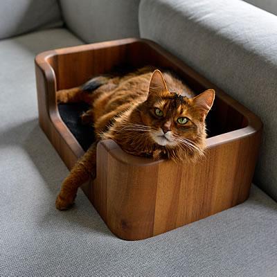 katzenbett woodie katzenbetten stylecats design kratzbaum. Black Bedroom Furniture Sets. Home Design Ideas