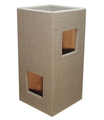 Cat Tree CONVENIENT I, Sisal light-grey, natural interior - Ansehen im Cat Tree-Online-Shop