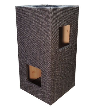 Cat Tree CONVENIENT I, Sisal anthracite-grey, natural interior - Ansehen im Cat Tree-Online-Shop
