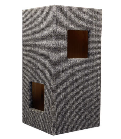 Cat Tree CONVENIENT I, Sisal anthracite-grey, glazed interior - Ansehen im Cat Tree-Online-Shop