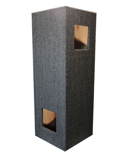 Cat Tree CONVENIENT II, Sisal anthracite-grey, natural interior - Ansehen im Cat Tree-Online-Shop