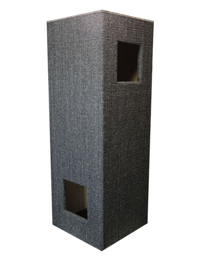 Cat Tree CONVENIENT II, Sisal anthracite-grey, glazed interior - Ansehen im Cat Tree-Online-Shop