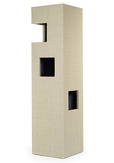 Cat Tree DOME, Sisal light-grey, glazed interior - Ansehen im Cat Tree-Online-Shop