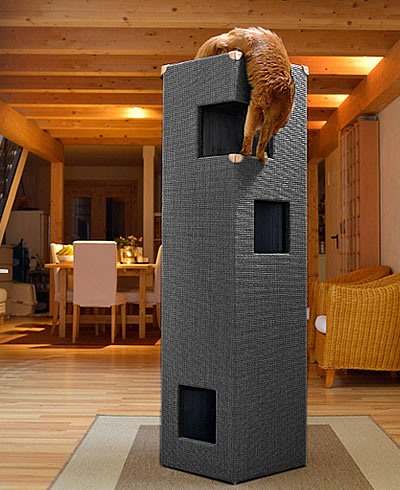 varianten kratzbaum kratzturm dome kratzb ume stylecats design kratzbaum. Black Bedroom Furniture Sets. Home Design Ideas