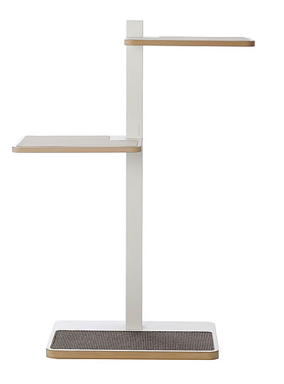 Cat Tree HOME 1, White, Sisal anthracite grey - Ansehen im Cat Tree-Online-Shop