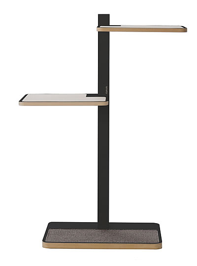Cat Tree HOME 1, Anthracite, Sisal light grey - Ansehen im Cat Tree-Online-Shop