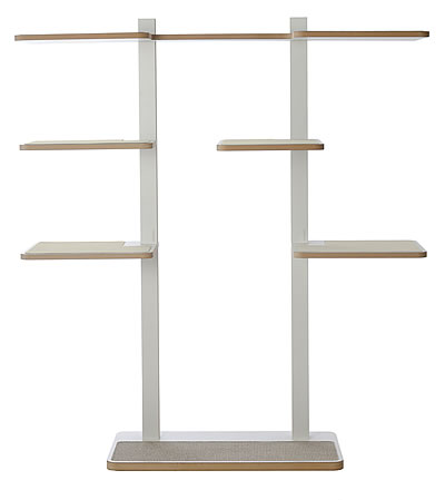 Cat Tree HOME 2, White, sisal surface in light-grey - Ansehen im Cat Tree-Online-Shop