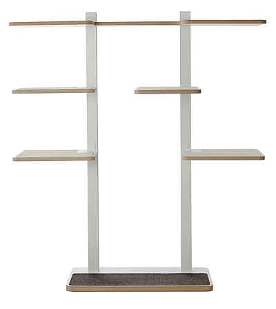 Cat Tree HOME 2, White, sisal surface in anthracite-grey - Ansehen im Cat Tree-Online-Shop