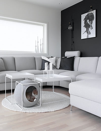 katzenh hle the cube kuschelh hlen stylecats design. Black Bedroom Furniture Sets. Home Design Ideas
